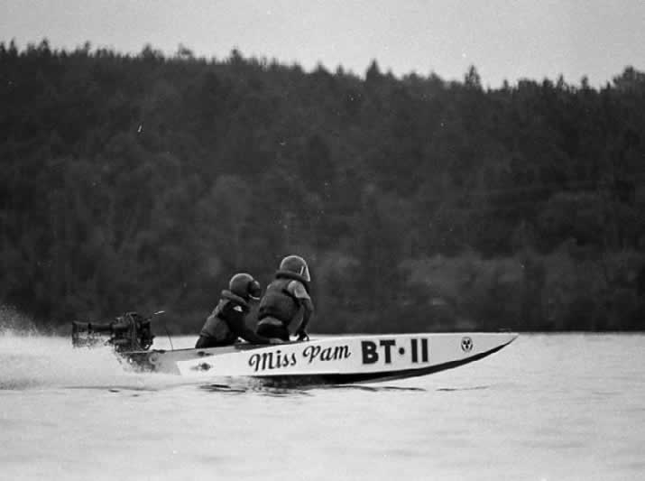 Miss Pam, BT-11, racing on Fort Buhlow Lake in Pineville, Louisiana, in 1972