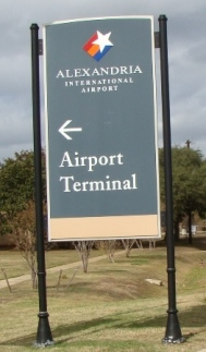 AEX Airport Terminal sign