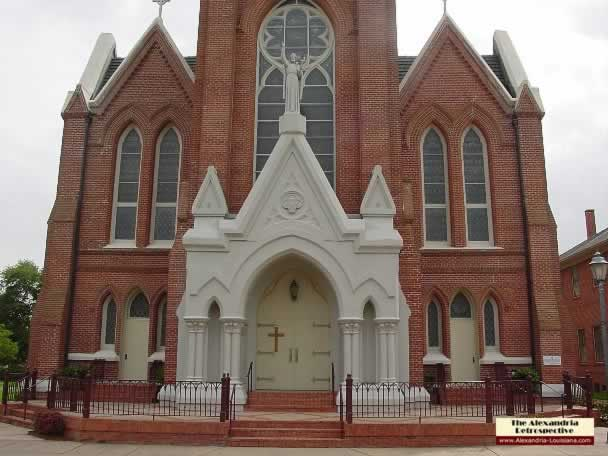 St Francis Xavier Cathedral in downtown Alexandria, Louisiana