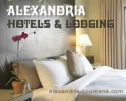 Hotels, motels and other lodging in Alexandria Louisiana
