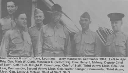Commanders and staff officers of the Louisiana Army Maneuvers of World War II, September, 1941