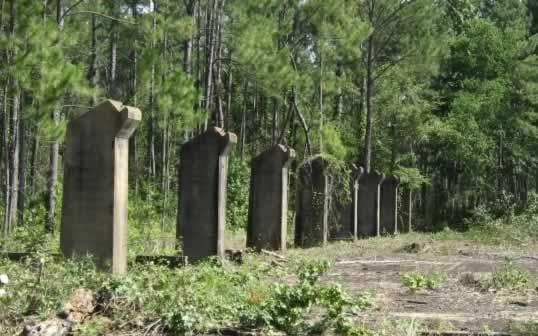 Camp Claiborne Louisiana abandoned building ruins