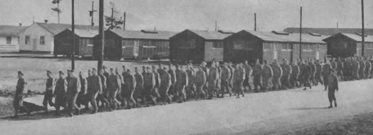 Camp Claiborne Soldiers Marching