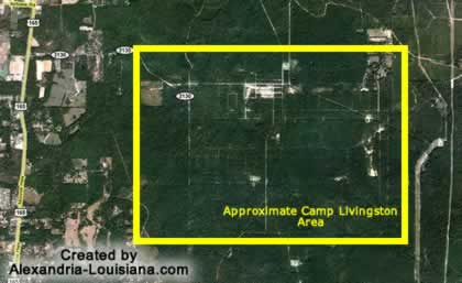 Camp Livingston Louisiana WWII Army Camp near history maps camp