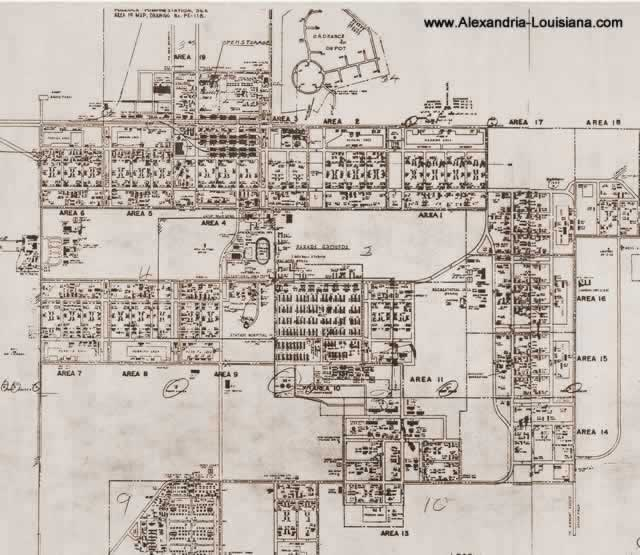 U S Army Camp Livingston Master Plan And Street Grid Dated 1945