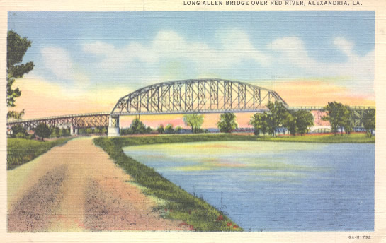 O.K. Allen Bridge connecting Alexandria and Pineville Louisiana
